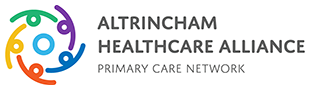 Altrincham Healthcare Alliance PCN logo linked to their website.